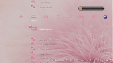 free ps3 themes, download ps3 theme clasypink ps3 theme