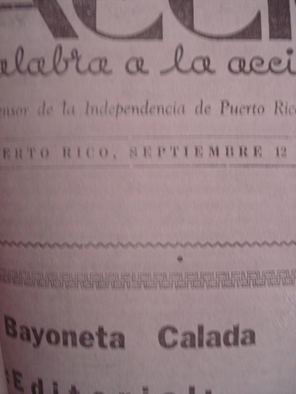 PERIODICO NACIONALISTA LA ACCION- 12 DE SEPTIEMBRE DE 1936