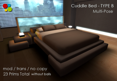 Off Brand Furniture In Second Life Cuddle Bed Type B
