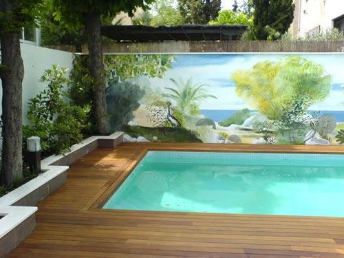 Formajardin muros pintados trampantojos imitando for Jardines naturales