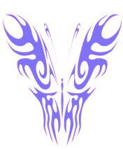 New Tribal Butterfly Tattoos Designs 2014