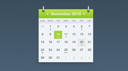 Calendar PSD file