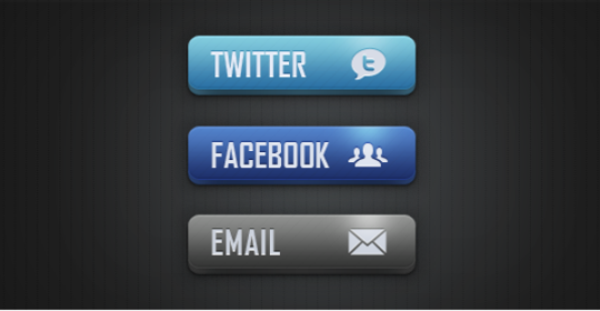 Twitter and Facebook PSD