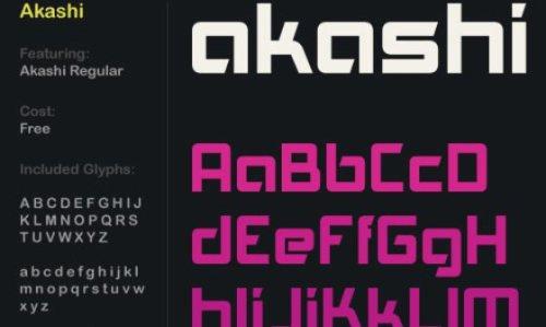 akashi font