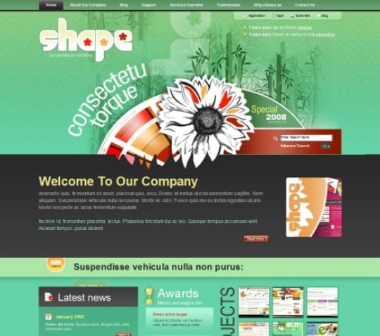 Shape psd template