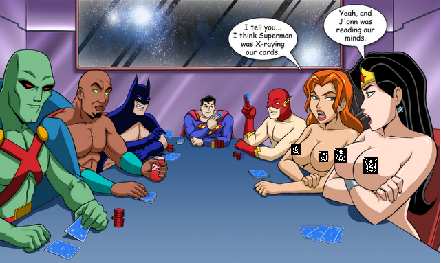 Gfest Strip Poker With The Justice League