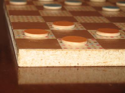 Paper Checker Pieces Little Checker Pieces