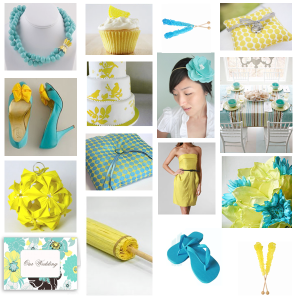 Turquoise and Yellow Wedding Inspiration