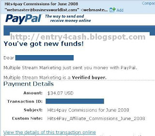 Hits4pay Proof of Payment