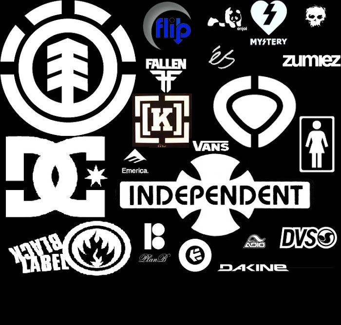 Skateboarding brands logos
