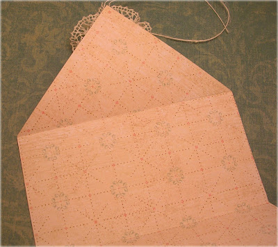 letter envelope pattern. with the body of the letter