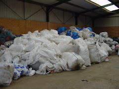 Fertiliser Bags Ready for Baling