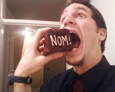 lolblogger cycloblogist nom nom birthday cake giles