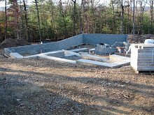 Bond beams poured and block foundation laid