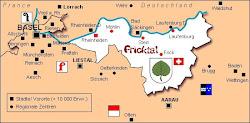 Karte Fricktal