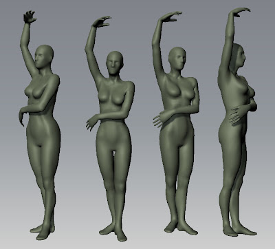 Rob\'s Adventures In Sculpting: Anatomy Study Standing Posed Woman Stage1