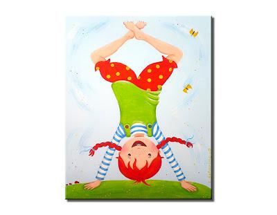 Kinderzimmerbild Pippi