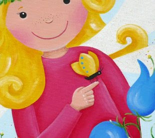 Kinderzimmerbilder, Geschenk zur Taufe, zur Geburt