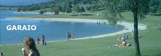 Parque de Garaio, playas de Garayo, en Alava (Araba), cerca de Vitoria (Gasteiz)