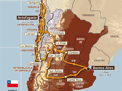 Recorrido Rally Dakar Argentina-Chile 2010