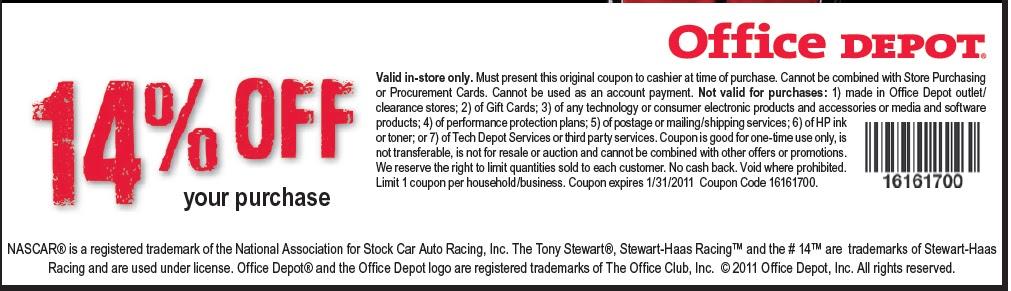 He depot coupons