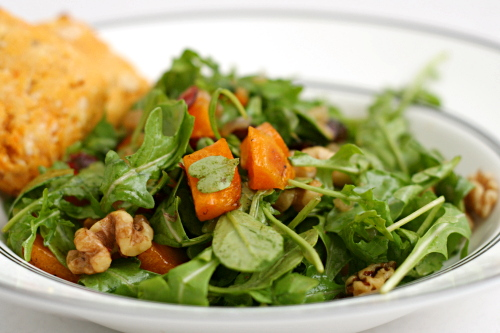 ... Tummy: Roasted Butternut Squash Salad with Warm Cider Vinaigrette