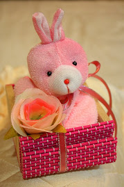 Cukur Jambul doorgift - Bear basket (girl)