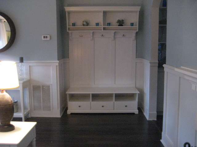 Ikea Coat Closet #21 - I Just Added Some Paneling, MDF Board And Coat Hooks, And Whalla! Total  Cost For Everything Was $500.00.