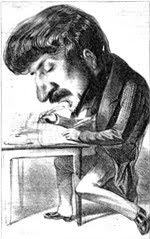 Donizetti composing with both hands
