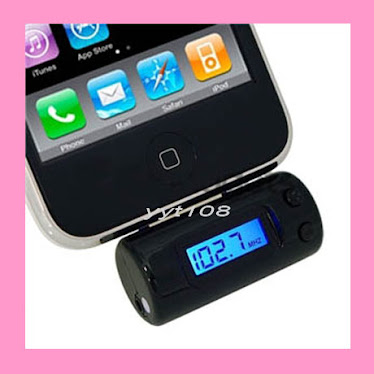 Iphone Ipod Fm transmitter for rs800 including car charger