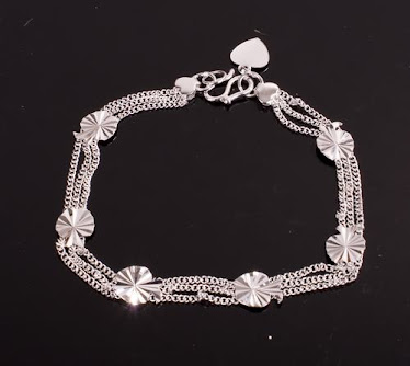 Pretty silver multi bracelet