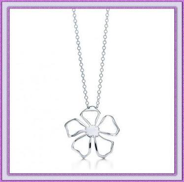 Flower silver chain