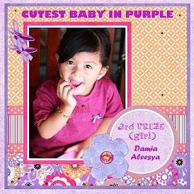 Cutest Baby in Purple