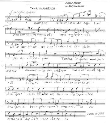 Canção da Amizade - Música