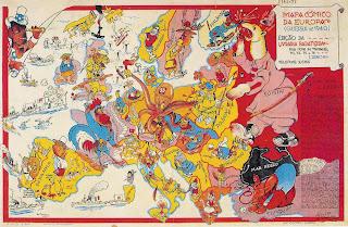 MAPA CÓMICO DA EUROPA 1940