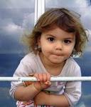 Recebi este ternurento selinho, com um rosto de criança - O mais belo