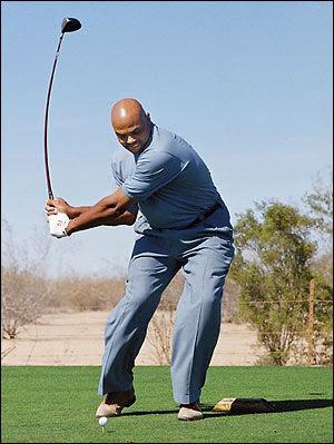 Tiger equates barkley s golf swing to a quot speech impediment quot