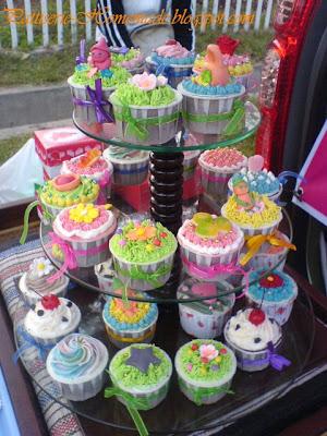 Cup Cake untuk perayaaan ulang tahun dengan tema bebas. Pakai tier 3 ...