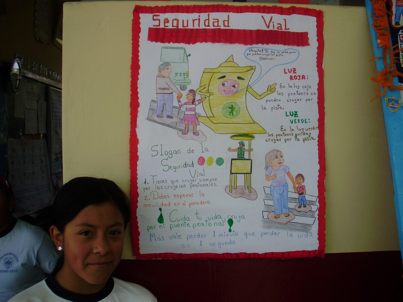 Educaci n vial 7 actividades for Mural sobre o transito