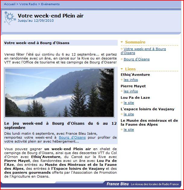 News de l 39 office de tourisme bourg d 39 oisans prolongez l 39 ete a bourg d 39 oisans - Bourg d oisans office tourisme ...