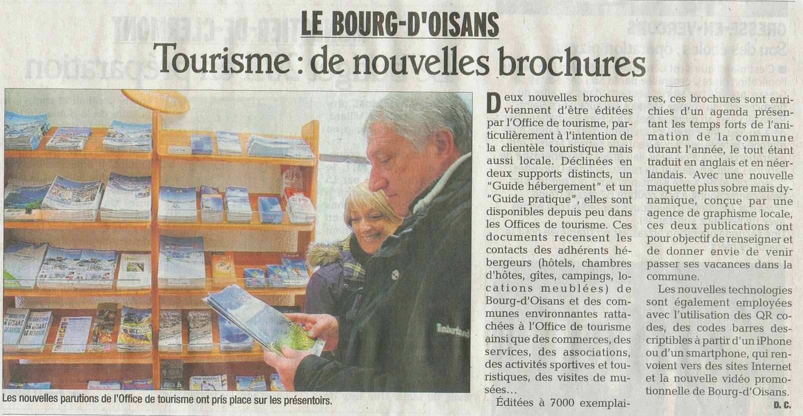 News de l 39 office de tourisme bourg d 39 oisans nouvelles brochures guide hebergement et - Bourg d oisans office tourisme ...