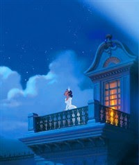 Princess Tiana dreaming at the balcony - The Princess and the frog