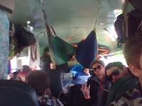 Teeth Mountain on the tour bus