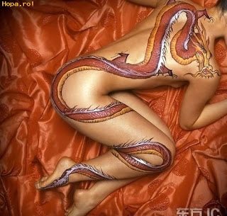 asian bodypainting sexy