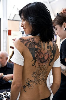 best art tattoo lower back