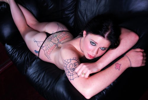 suicide girls tattoo. hot babe with tattoo popular