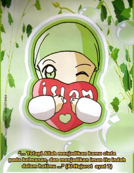 wallpaper cinta islam. kerana cinta kan Allah.