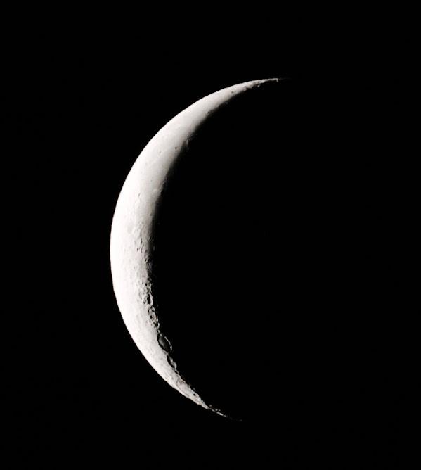 La Luna a las 4:30 de la madrugada.