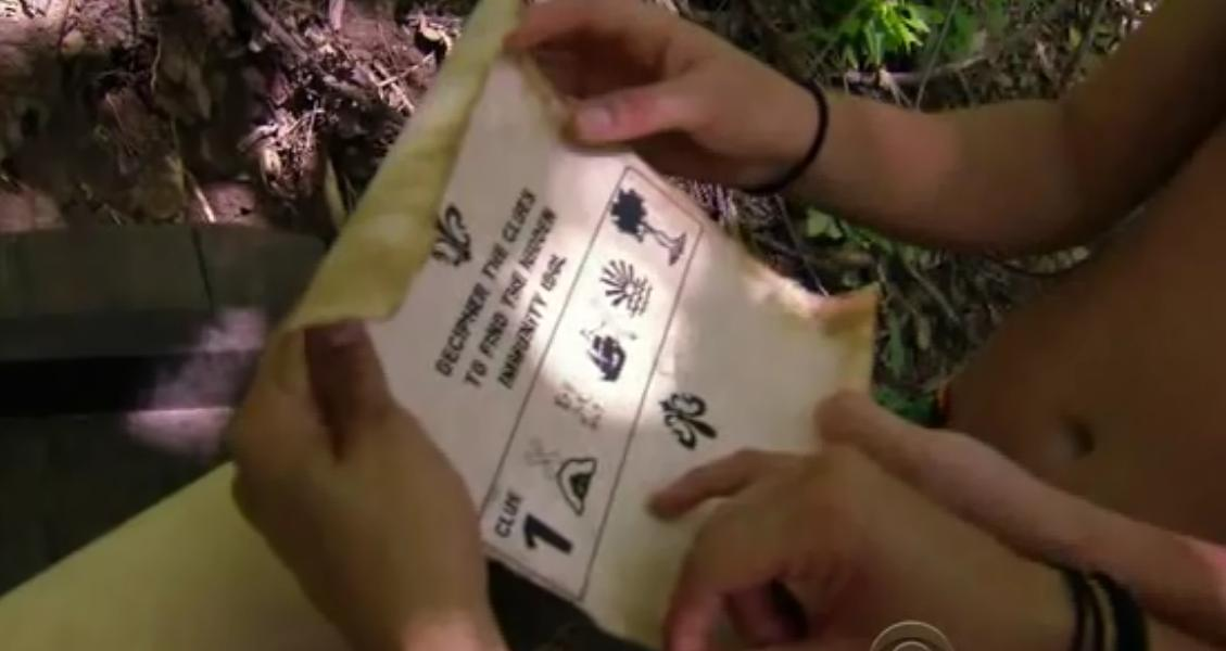 It's a clue for the hidden immunity idol. The difference is that the clue is
