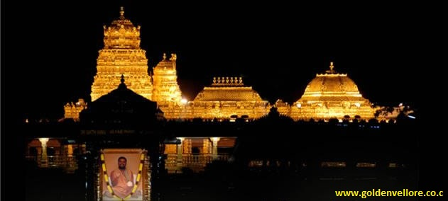 golden temple vellore at night. images vellore golden temple